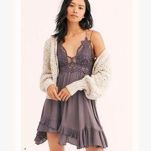 Free People Adella Lace Mini Slip Dress
